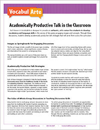 VocabulArte | Academically Productive Talk in the Classroom